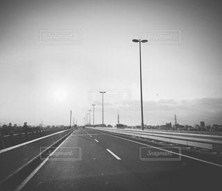 風景,道路,高速道路,道,イメージ,黒と白