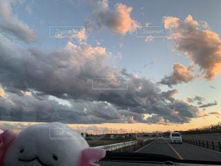 空,雲,夕方