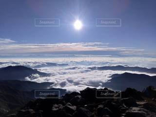 自然,空,屋外,山,雲海,頂上,白山,山腹