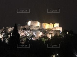 建物,夜景,ライトアップ,ギリシャ,神殿