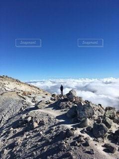 自然,空,雲,山,登山,快晴,ハイキング,冒険,白山,山腹