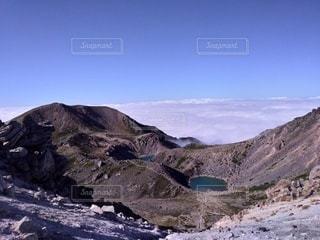 自然,風景,空,雲,池,山,雲海,白山,フォトジェニック,山腹