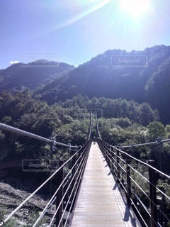 風景,橋,山,旅行,吊り橋