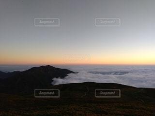 自然,風景,空,雲,夕暮れ,霧,山,雲海,ハイキング