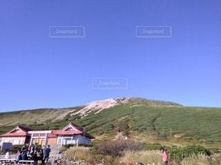 自然,風景,空,緑,山,家,高原,快晴,ハイキング,山小屋