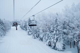 リフトと雪景色の写真・画像素材[4206106]