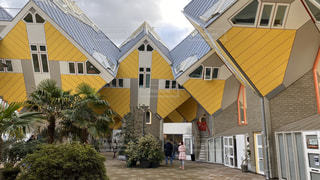 建物,アート,観光,家,旅行,オランダ,海外旅行,ロッテルダム,アーキテクチャ,キューブハウス