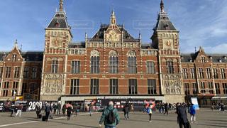 建物,ヨーロッパ,観光,旅行,オランダ,アムステルダム,海外旅行,一人旅,西洋建築,アムステルダム中央駅