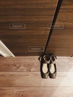 靴,バレエシューズ,床,木目