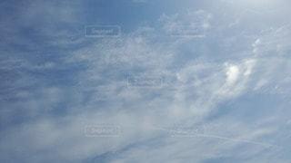 空,屋外,雲,青空,飛行機雲,ひこうき雲,日中,クラウド