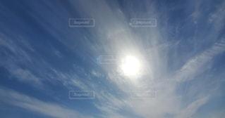 空,屋外,太陽,雲,青,快晴,日中