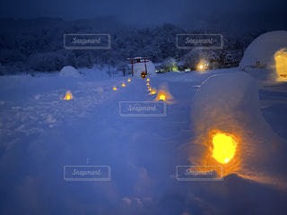 雪,屋外,灯り,かまくら