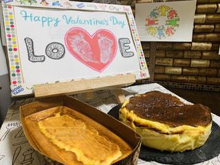 食べ物,ケーキ,アート,デザート,ハート,ペン,おいしい,バレンタイン,チーズケーキ,マスキングテープ,マステ,紙,足型,おえかき,おうち時間