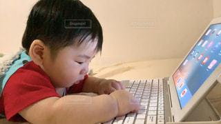 興味津々な赤ちゃんの写真・画像素材[3271372]