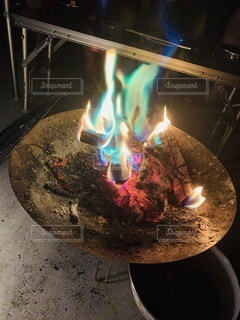 焚き火の写真・画像素材[3520963]