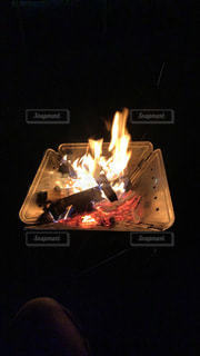 焚き火の写真・画像素材[3520983]