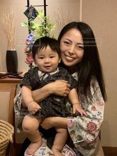 浴衣の親子の写真・画像素材[3615864]