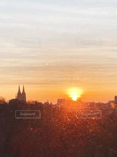 朝日,ヨーロッパ,朝焼け,ドイツ,早朝,大聖堂,ケルン,暁,冬の朝