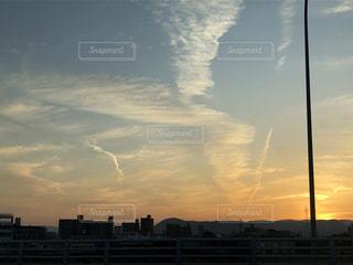 空,屋外,雲,夕暮れ,地震雲