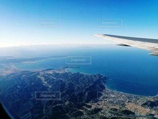 空,屋外,飛行機,海岸,飛ぶ,山,空中,航空機,フライト,航空