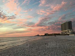 風景,海,空,ビーチ,綺麗,砂浜,夕暮れ,海岸