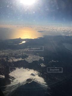 空,富士山,飛行機,旅