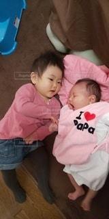 女性,子ども,2人,赤ちゃん,幼児,新生児