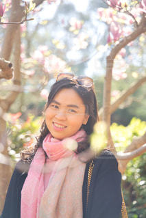 女性,風景,花,屋外,少女,お花見,人,笑顔,さくら,桜満開