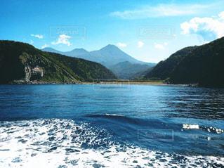 自然,風景,海,空,屋外,青,船,水面,山,景色,旅,フェリー,海上,日中,クラウド
