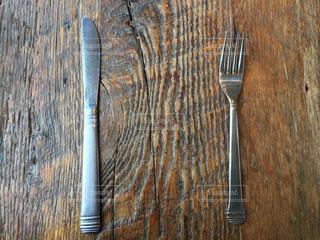 食事,木,フォーク,ナイフ,食器,木目