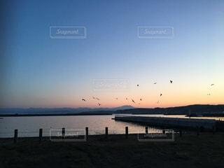 朝焼けの海の写真・画像素材[3081456]