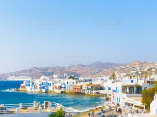 風景,海,空,建物,ビーチ,ボート,旅行,ギリシャ,ハネムーン,港町,新婚旅行,ミコノス島