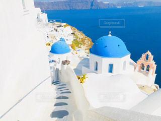 海,夏,海外,青,旅行,サントリーニ島,ギリシャ,ハネムーン,新婚旅行,イア,青のドーム