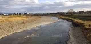 自然,屋外,川,水面,河原