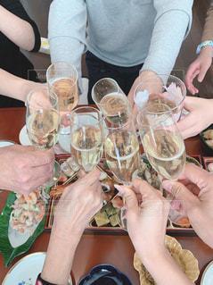 5人以上,飲み物,人物,イベント,ワイン,グラス,お正月,乾杯,ドリンク,シャンパン,パーティー,手元