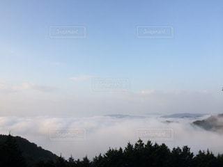 自然,風景,空,屋外,霧,山,樹木,日中,クラウド