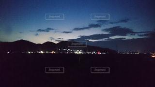 風景,空,夜,屋外,雲,暗い,山,クラウド