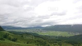自然,風景,空,屋外,緑,草原,雲,山,景色,草,丘,大地,新緑,山頂,阿蘇,高原,眺め,山腹