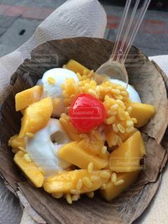 食べ物,南国,マンゴー,デザート,タイ,ココナッツアイス