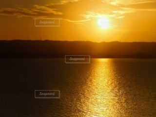 海,夕日,夕暮れ,サンセット,神様の通り道