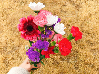 花,花束,花瓶,バラ,花びら,鮮やか,草,草木