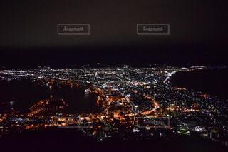 空,夜,夜景,暗い,北海道,明るい,函館,函館山,日本三大夜景