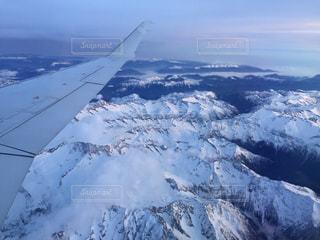 自然,空,雪,飛行機,山,氷,空中,斜面,フライト