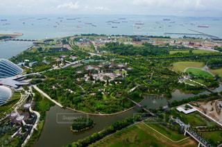 水面,樹木,都会,シンガポール,空中,ガーデンズ・バイ・ザ・ベイ,マリーナ・ベイ・サンズ,マリーナベイ