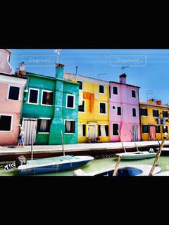 空,建物,ボート,窓,水面,家,旅行,イタリア,ムラーノ島