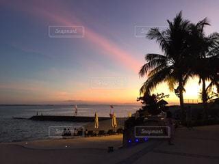 風景,海,ビーチ,砂浜,夕暮れ,海岸
