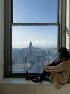 女性,1人,風景,空,建物,ニューヨーク,屋内,窓,都会,人,旅行,高層ビル,マンハッタン,フォトジェニック,インスタ映え