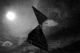 空と標識の写真・画像素材[3343197]