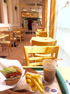 ハンバーガーでモーニングの写真・画像素材[359817]