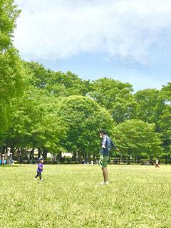 公園,親子,父,子,ふれあい